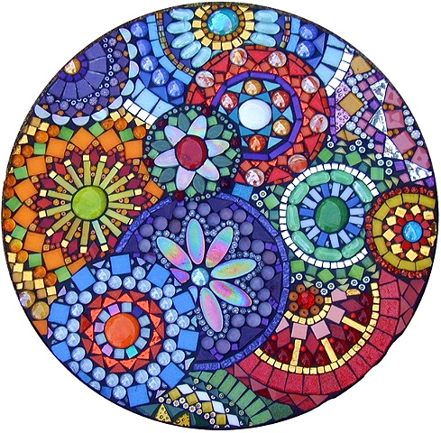 Flower Mosaic Art Clockworks Claire Roche