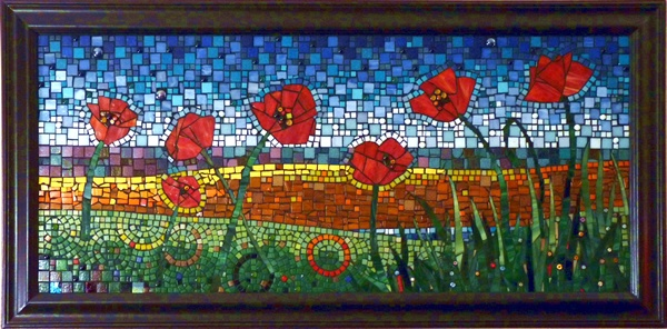 Poppies Mosaic Art Flowers