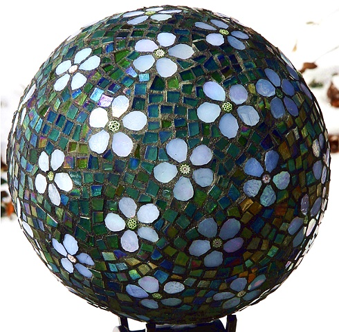 Gazing Ball Mosaic Art