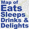 Custom Map of Local  Eats & Sleeps