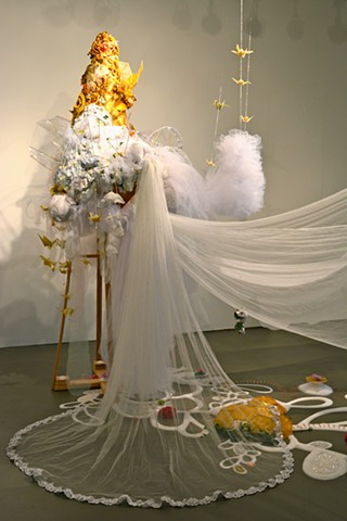 Of Milk and Honey, honey sculpture, lauren turk sculpture, lauren turk art, soft sculpture, faith art, promise land,