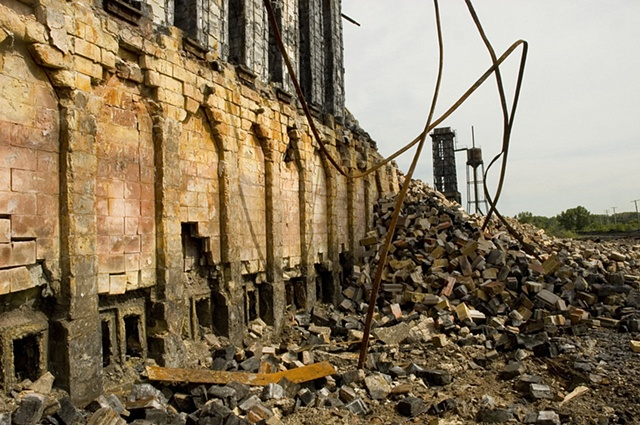 Ruins of old steel and coke plant in the Calumet region of Chicago