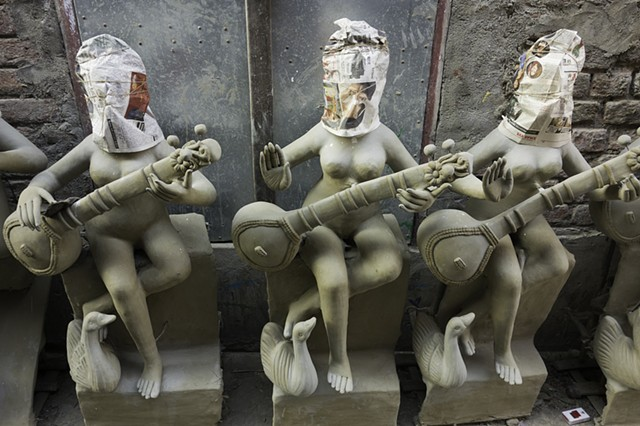 Saraswati Covered Idols