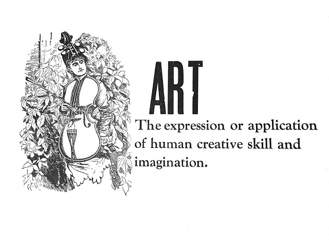 """the expression or application of human creative skill and imagination"""