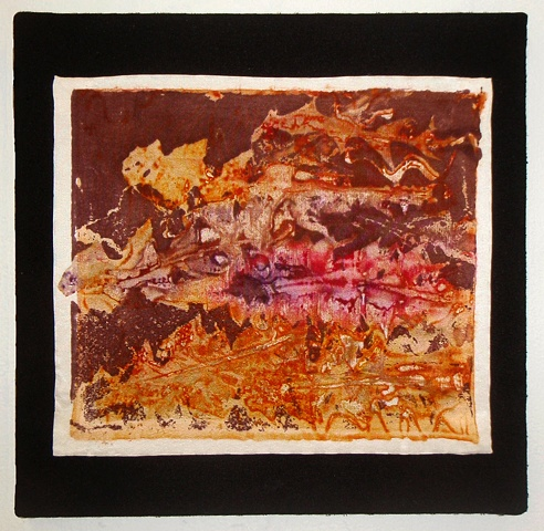 hand-dyed, plant-based art, fiber-reactive dye, leaf art, abstract textile art, weed-based art