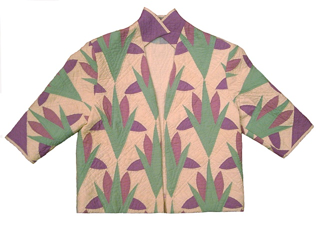 jacket made from grandmother's quilt
