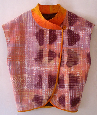 hand painted silk vest