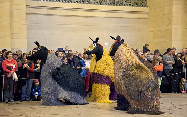 "Nick Cave's ""Heard NYC"" presented by Creative Time in Grand Central Station."