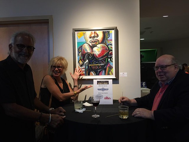 Fundraiser for Joe Frazier at the JCC, Holtzman Gallery summer of 2017.
