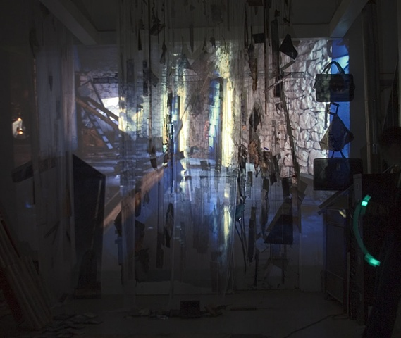 Projection - Subtitle Zone 2006 installation