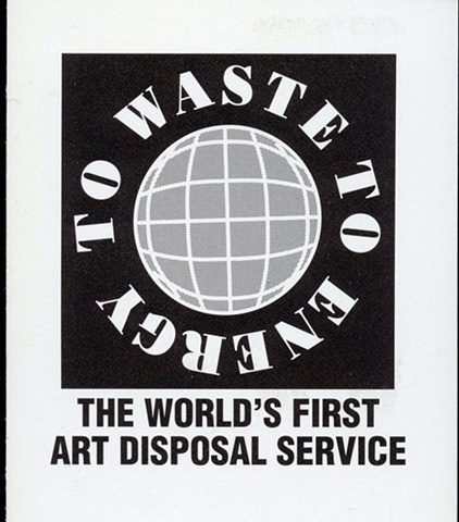 Logo and Manifesto for the  World's First Art Disposal Service 1993 (movie excerpt) - 2 minutes and 34 seconds