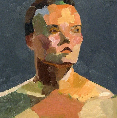 oil painting, portrait of a model