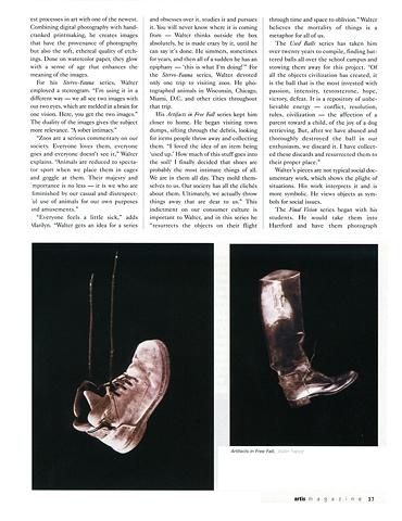 Artis Magazine article, March 2006