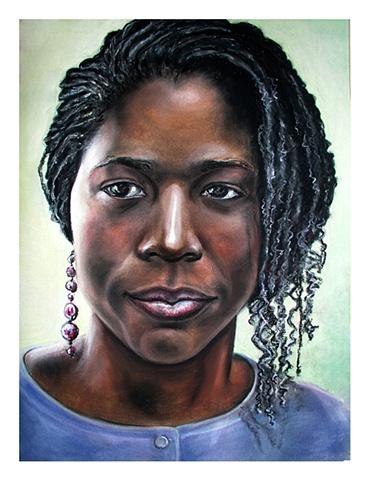Pastel Portrait on Arches Watercolor paper