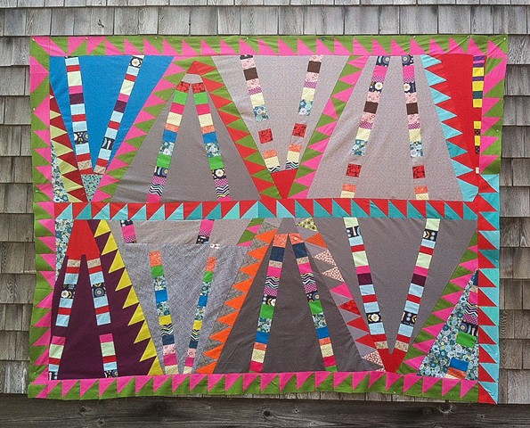 Jagged triangle quilt