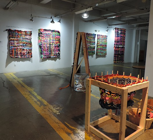 Collaborative Weavings, community space, Buffalo Arts Studio, 2016