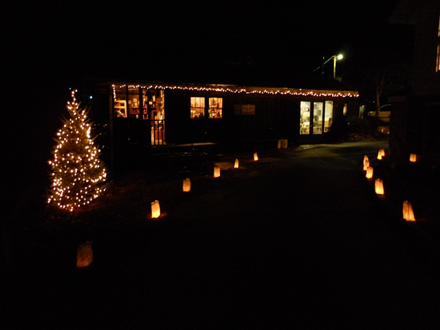 Visit us for our Luminaries the first two weekends of December