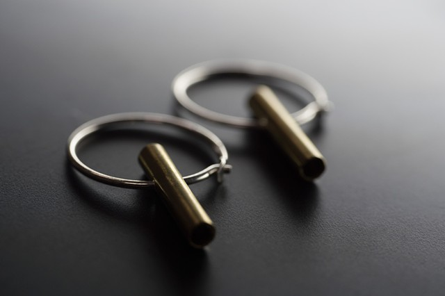 GEOMINI Small Creol Earrings with tube