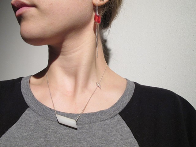 Tubetube Thread-through Earrings and Necklace