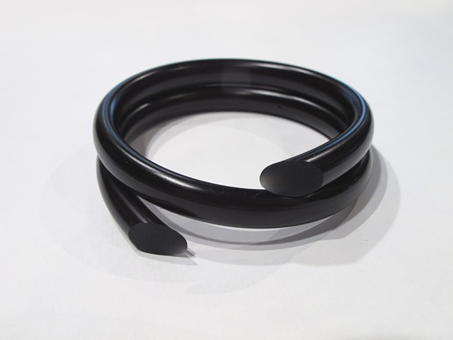 Elsa Hedberg Black Swirl Bioresin Bangle