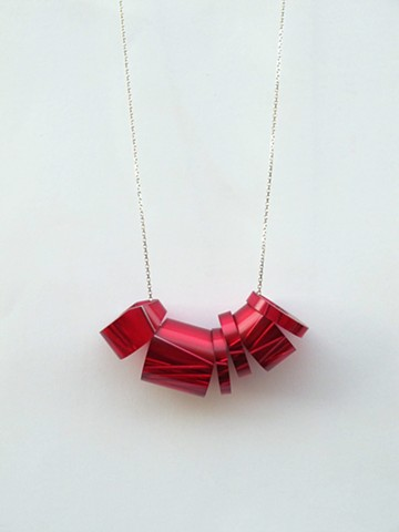 elska jewellery red bioresin neckpiece