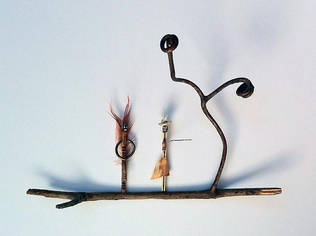 matchsticks, found objects, miniature, sculpture