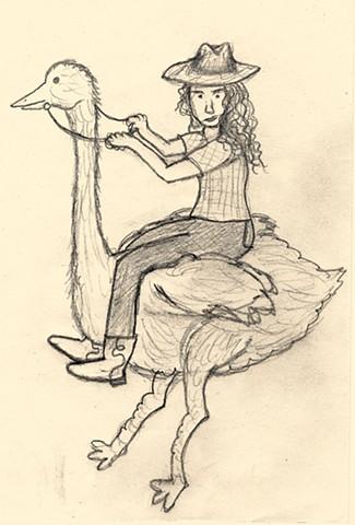 Cowgirl Ostrich