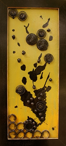 Pollen, recycled art, found object