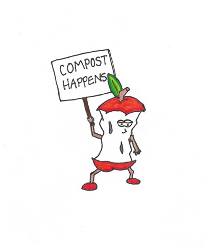 Alfonso the Apathetic Apple Still Adamant About Compost