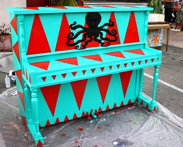Painted for Pianos On State Street, Santa Barbara, California, November 2012