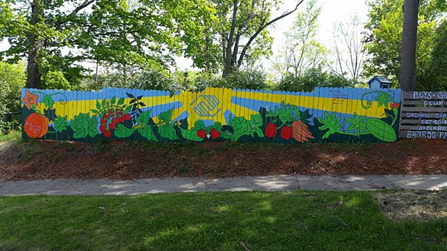 Boys and girls club community garden mural