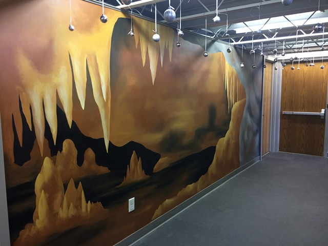 Black Earth Children's Museum Cave Exhibit Mural