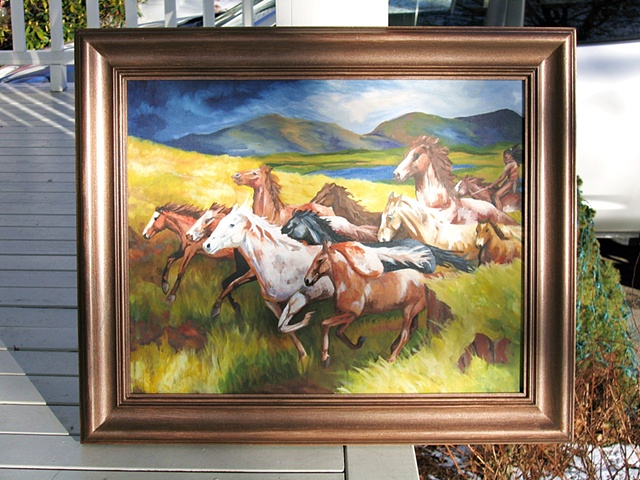 Old Western Oil Painting