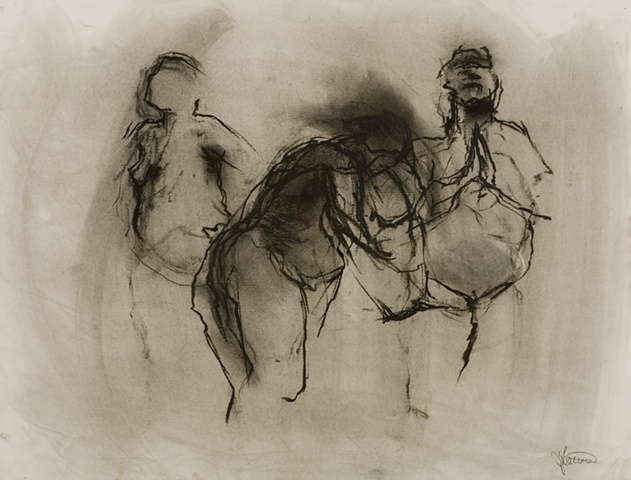 three graces in charcoal SOLD