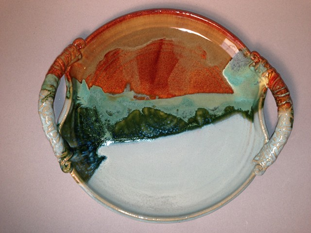 Unique beautiful serving platter for display or versatile serving or wedding gift