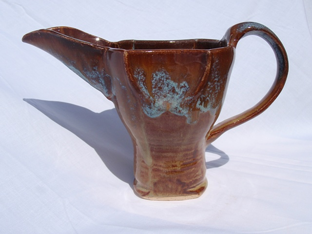 Brown and Aqua Essence Pitcher