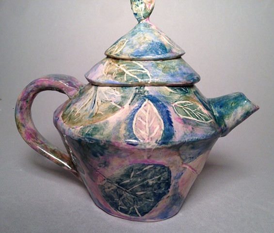 Watercolor teapot is colorful and functional