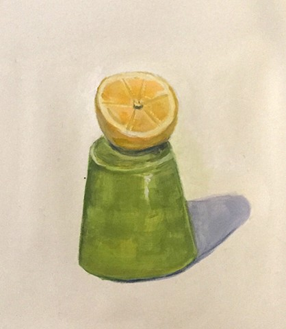 Lemon slice/Green Cup