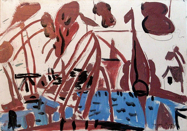 Boatyard of Edam, Brown and Blue, 1988