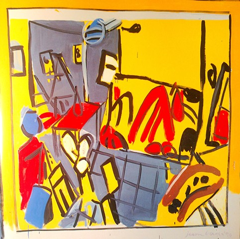 Yellow and Red Studio with Boatyard Red Rake, 1990