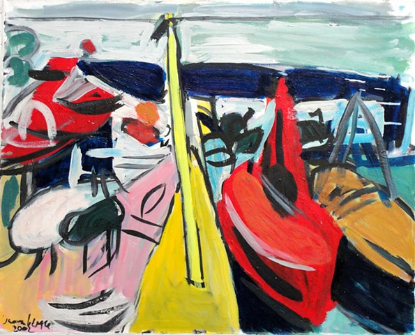 Boats, Red and Yellow Boats, 2002