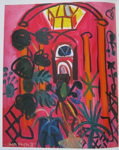 Mexico, Red Cloister at Lagoa, 1981