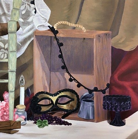 Still Life With Monochromatic Underpainting