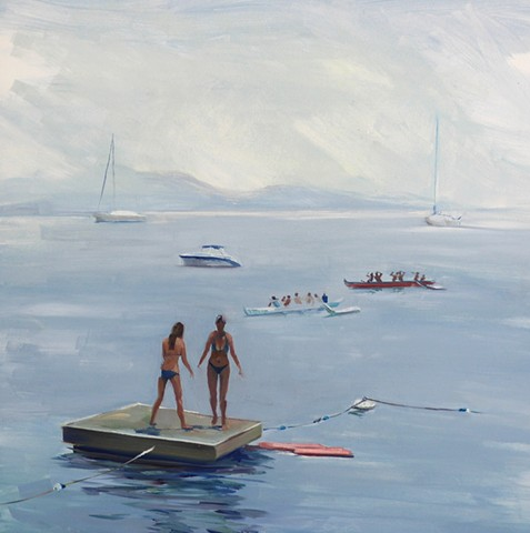 #oil painting of water, marine painting, #beach painting, #Newport Beach, #boat painting, #sail boat, ocean, speed boat, harbor, #California, Southern California Coast painting, #Newport Beach, Art of Newport Beach, painting of boats, #coastguard, naval b