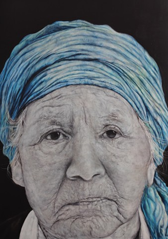 THE LADY WITH THE BLUE TURBIN - ARGENTINA