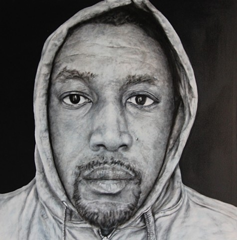 """In The Hood - Portraits of African American Professionals Wearing a Hoodie."""