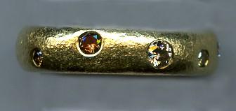 Multi Colored Diamonds 18kt. Gold