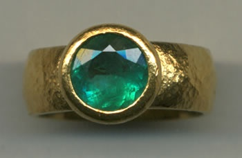 Emerald with 24kt. Gold