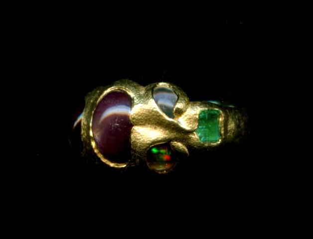 Star Sapphire Ruby Fire Agate Emerald Opal Moonstone 24kt. Gold