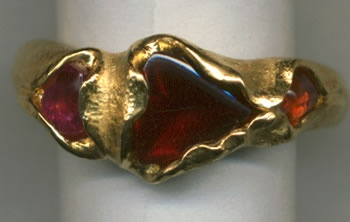 Garnets with 24kt. Gold